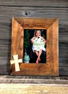 custom barnwood frames frame precious cross 5x7 stained 1039 http