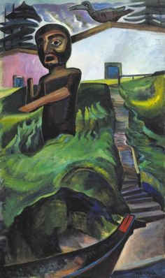 View The Crazy Stair The Crooked Staircase by Emily Carr on artnet. Browse more artworks Emily Carr from Heffel Fine Art Auction House. Tom Thomson, Canadian Painters, Canadian Artists, Emily Carr Paintings, Group Of Seven Paintings, Canada, Impressionist Paintings, Oil Paintings, Fine Art Auctions