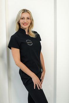 dress, black dress, dress for spa and clinic, uniform, fashion to work Dress Black, Clinic, Spa, T Shirts For Women, Model, Dresses, Fashion, Vestidos, Moda