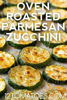 Side Dish Recipes, Vegetable Recipes, Low Carb Recipes, Vegetarian Recipes, Cooking Recipes, Healthy Recipes, Potato Recipes, Oven Roasted Zucchini, Parmesan