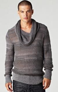 NOT attractive (the sweater) cowl necks for guys do not look good