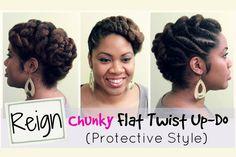 Beautiful and Protective Flat Twist Updo [Video] - http://community.blackhairinformation.com/video-gallery/natural-hair-videos/beautiful-protective-flat-twist-updo-video/
