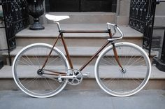 Hand painted faux woodgrain on a track frame.  Amazing detail!