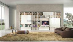 Стеллажи в гостиной – фотоподборка современных решений