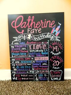 Custom+HandPainted+Chalkboard+1st+Birthday+Poster+by+ArtByGillian,+$60.00