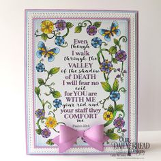 Our Daily Bread Designs Paper Collections: God's Blessings Coloring Pages, Custom Dies: Pierced Rectangles, Small Bow