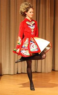 Model Coco Rocha in her Irish dance days :)- Love the traditional style dresses
