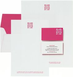 Like the business cards and envelopes. Nothing special about the letterhead...except the pink! :)