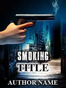 Smoking Gun Thriller | Customizable Book Cover by RLSather | SelfPubBookCovers: One-of-a-kind premade book covers where Authors can instantly customize and download their covers, and where Artists can post a cover and name their own price.