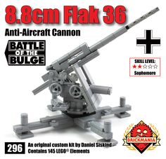 Brickmania - Air Defense Bundle: 8.8cm Flak 36 Anti-Aircraft Cannon   Crewman, $60.00 (http://www.brickmania.com/air-defense-bundle-8-8cm-flak-36-anti-aircraft-cannon-crewman/)