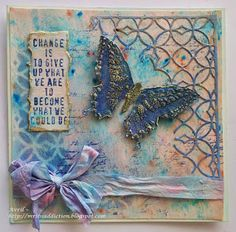 Tim holtz mixed media and butterfly card