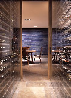 would be neat to have the wine cellar as part of a corridor; Blue Duck Tavern Wine Cellar
