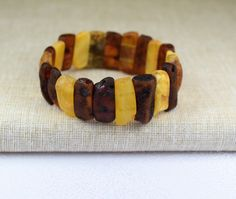 Raw Amber bracelet for adults. Adult Baltic by BalticAmberCity