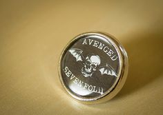 Great Avenged Sevenfold Round Lapel pin/ pin badge by WeeHings