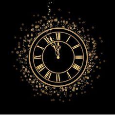 [フリーイラスト素材] イラスト, 時計, 黒色 / ブラック ID:201312122300