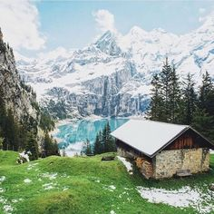 Oeschinen Lake, Bernese Oberland, Switzerland