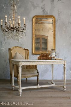 original Contessa Entry Table was found in Provence. This elegant table's clean lines have made it one of the Eloquence Collection best sellers.