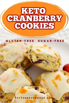These keto cranberry orange cookies feature the flavors of fresh cranberries, cream cheese, and orange for one delicious seasonal cookie. They make the perfect low carb cranberry cookies| keto cranberry orange cookies| keto cranberry cookies| low carb cranberry orange cookies| low carb cranberry orange cookies