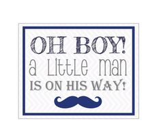 Baby Shower Sign OH Boy A Little Man Is On by DesignsByLindsayy