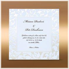 Svatební oznámení s perleťovým rámečkem SK129