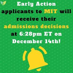 🔔 Follow our #CollegeAdmissions Blog for #EarlyAction & #EarlyDecision notification dates! 🔔 #ClassOf2018 #ClassOf2022 #HigherEd #AspireApplyAchieve #MassachusettsInstituteofTechnology