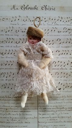 Diy Christmas Ornaments, Homemade Christmas, Vintage Christmas, Christmas Decorations, Paperclay, Paper Dolls, Spun Cotton, Scrap, Victorian