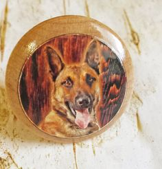 German Shepherd Dog Knobs Mans Best Friend by SRVintageandDesigns