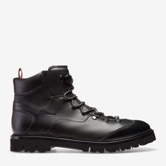 separation shoes 330f4 f37af CHARLS - SCHWARZ CALF Schuhe Herren Stiefel, Schwarzes Leder, Lederschuhe,  Leder Für Männer