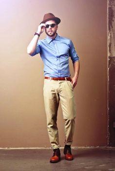 Hipster Men vintage Fashion
