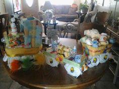 Winner the Pooh Train diaper cake
