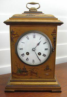 Gold Chinoiserie bracket clock.