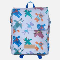 Kids Backpack by Designvonal // pattern design by Csaba Hutvágner. Designed and made with love in our downtown workshop in Budapest, Hungary. Kids Backpacks, Pattern Design, Budapest Hungary, Workshop, Bags, Products, Handbags, Atelier, Children's Backpacks