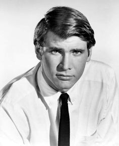 A very young Harrison Ford (b. 1942) in the 1960s.