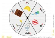 حرف الميم تعليم الحروف العربية للاطفال باللعب لعبة القرص الدوار للحروف الهجائية العربية School Crafts Cards Crafts