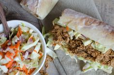 chipotle & orange pulled chicken sandwiches with southwest slaw
