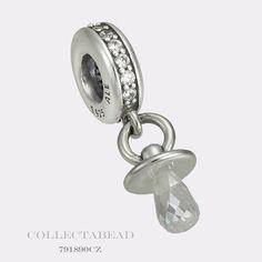 Authentic Pandora Sterling Silver Dangle PACIFIER Bead 791890CZ #Pandora