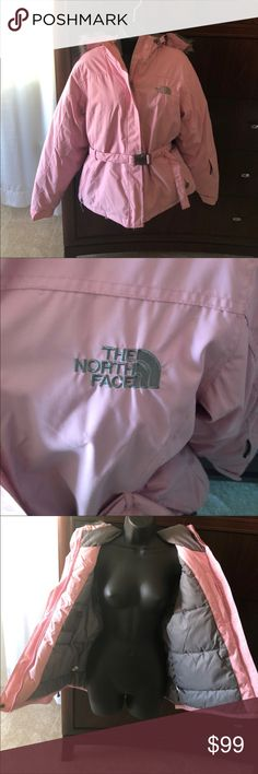 🌸 North Face Jacket 🌸Pink & Grey North face, Size L, No damage, great condition, sizing chart above  🌸Hold available on bundled items ONLY 🌸Next Day Shipping, No Shipping Sundays  🌸All Payments Through Posh Only 🌸Questions Welcomed   💞Natasha 😘 North Face Jackets & Coats
