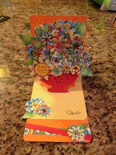Penci's lovely Pop 'n Cuts card. - Pop up card using G45 Bohemian Bazaar