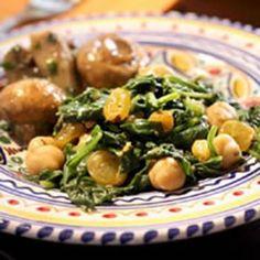 Spinach With Chickpeas Recipe - Everyday Health & ZipList