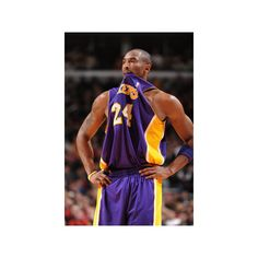 Los Angeles Lakers v Chicago Bulls: Kobe Bryant Photographic Wall Art... ($20) ❤ liked on Polyvore featuring home, home decor, wall art, photography posters, chicago bulls poster, kobe bryant poster, photographic wall art and photography wall art