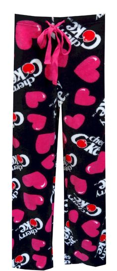 Coca Cola Cherry Coke Plush Lounge Pants, $20 So cozy and soft, she'll want to wear these all the time! These lounge pants for women feature Coca Cola's Cherry Coke logo with hearts on a super soft plush fabric. These pants have an elastic waistband with adjustable ties. Machine washable and easy to care for. Junior cut.