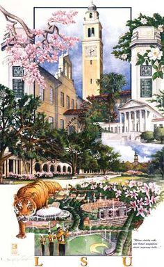 LSU Campus Collage