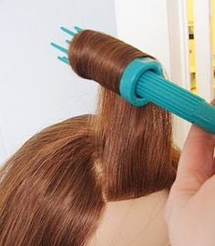 Another pinner said: easiest way to do victory rolls. These tools cost about $5 at Sally Beauty, and this site shows you how to use them.
