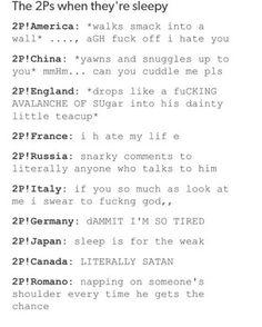 I'm like Japan and Canada