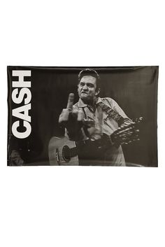 Johnny Cash... Fist in the air, and a finger to the sky.