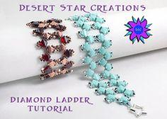 Diamond Ladder Bracelet Tutorial PDF di DesertStarCreations