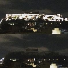 Lights out in Acropolis tonight... #athens #acropolis #psiri