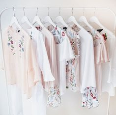 Closet floral clothing tops pink white