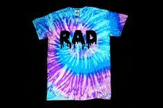 Purple blue tie dye RAD shirt by wildblacksheep on Etsy