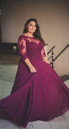 7f78724b7462 Plus Size Long Sleeve Charming Prom Dress